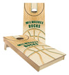 Regulation milwaukee bucks cornhole boards. Customizable premium quality cornhole set.