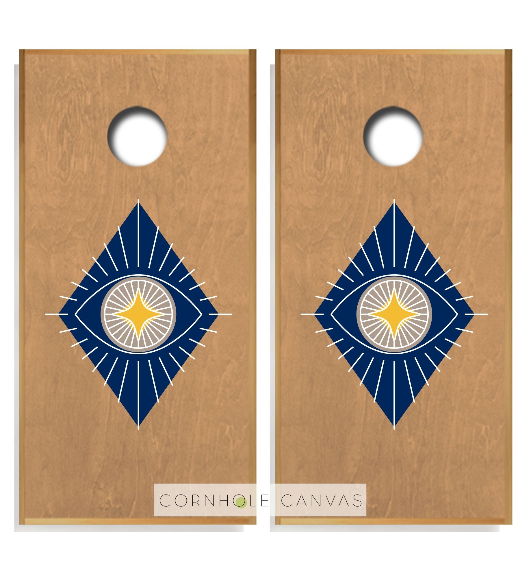 Regulation cornhole boards. Set of two. Customizable.