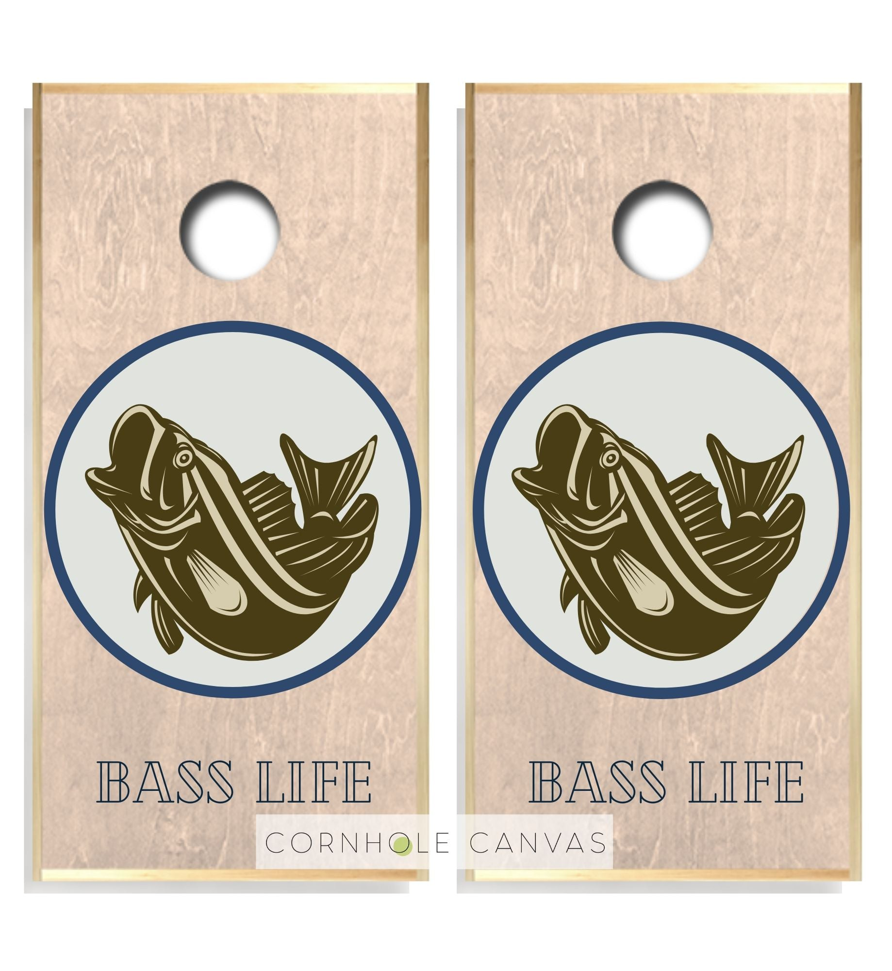 Regulation cornhole boards. Fishing theme. Premium quality.