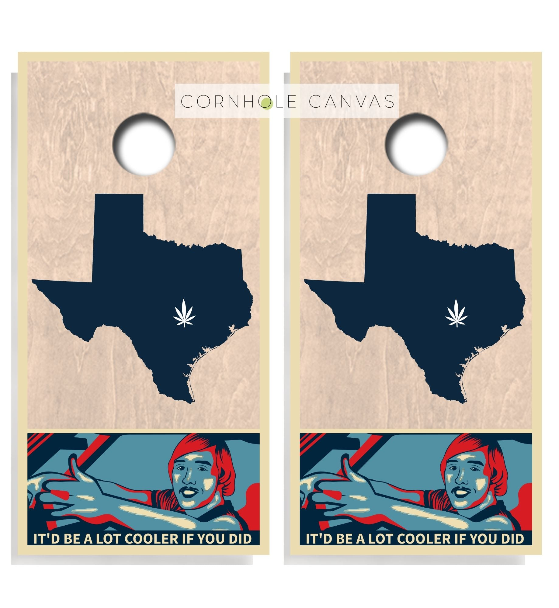 Regulation cornhole boards. Set of two. Dazed and confused theme. Austin Texas. Customizable.