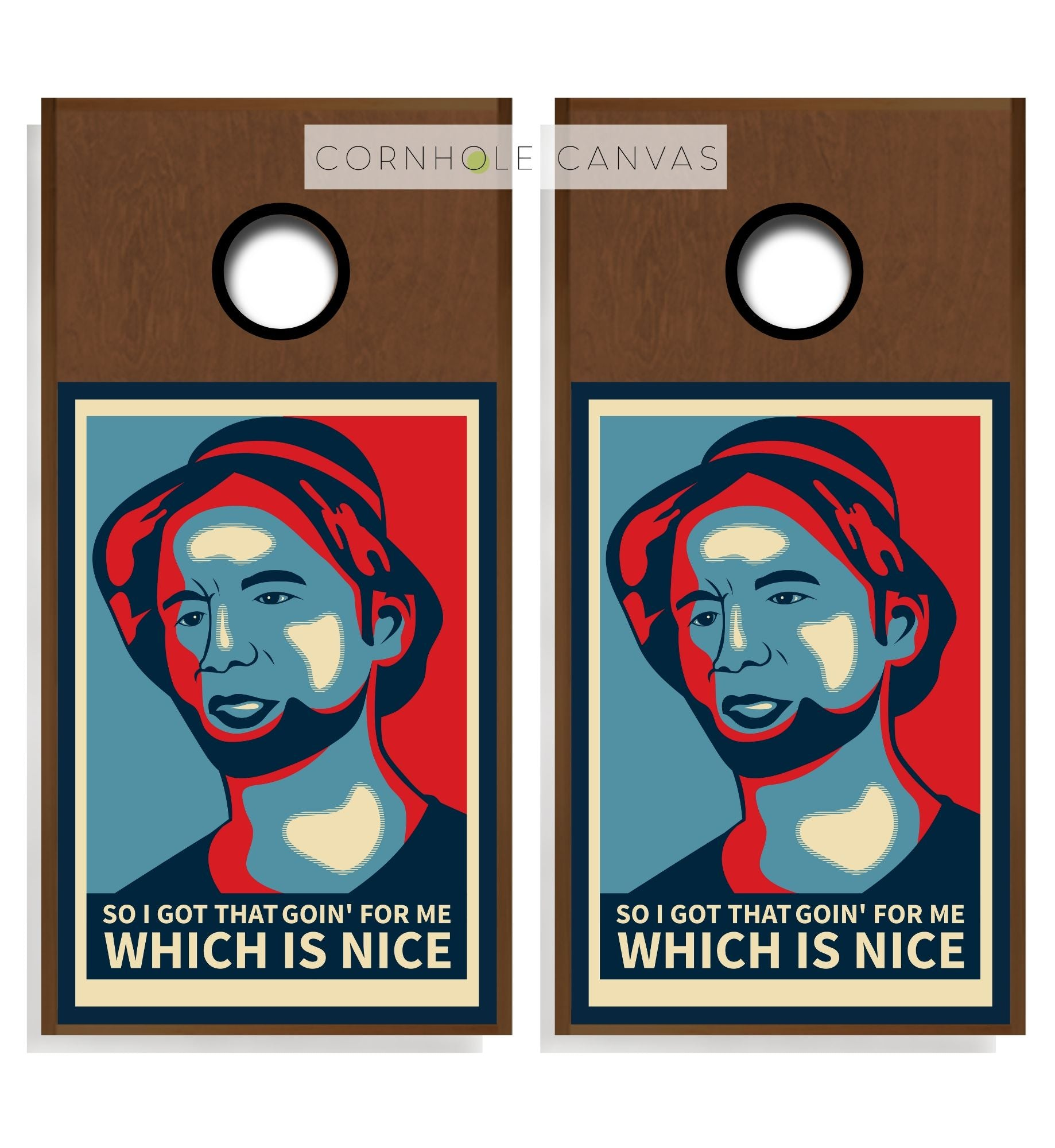 Regulation cornhole boards. Set of two. Golf theme. Customizable.