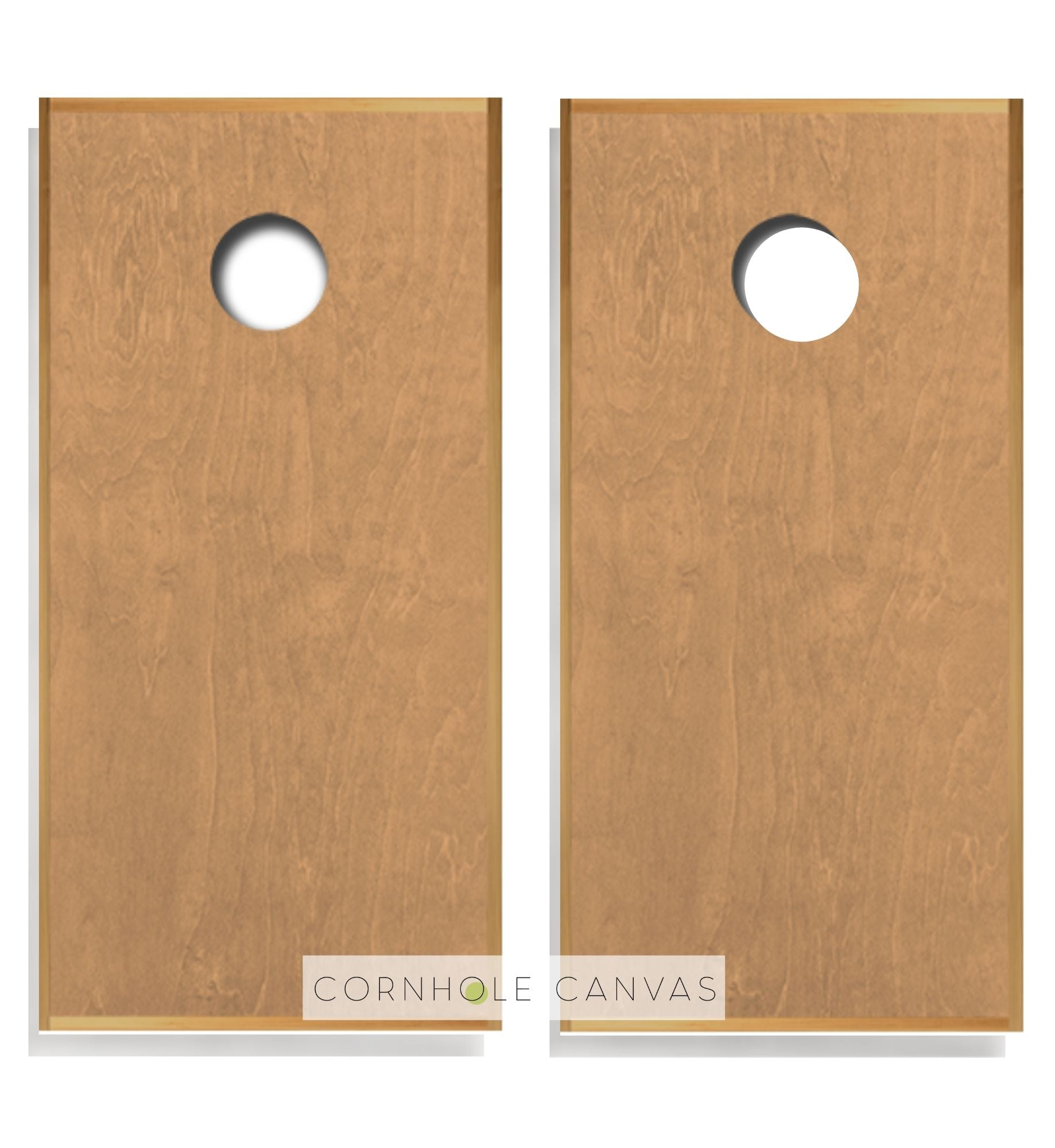 Regulation cornhole boards. Customizable premium quality cornhole set. Golden oak stain.