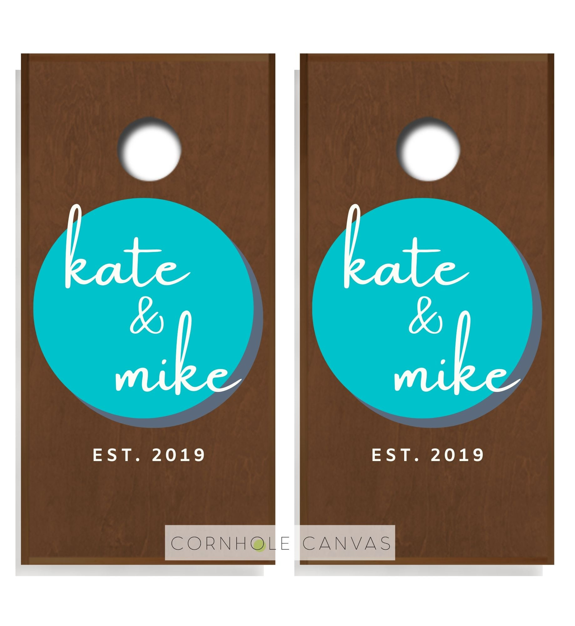 Regulation cornhole boards. Wedding monnogram name and date. Customizable set.
