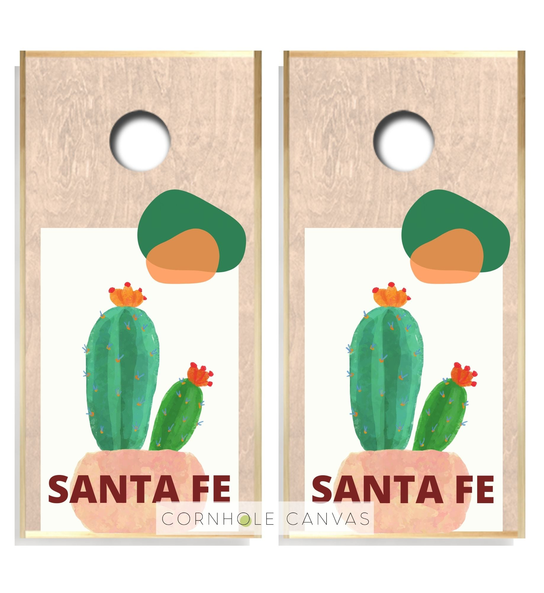 Regulation cornhole boards. Santa fe design. Customizable set.