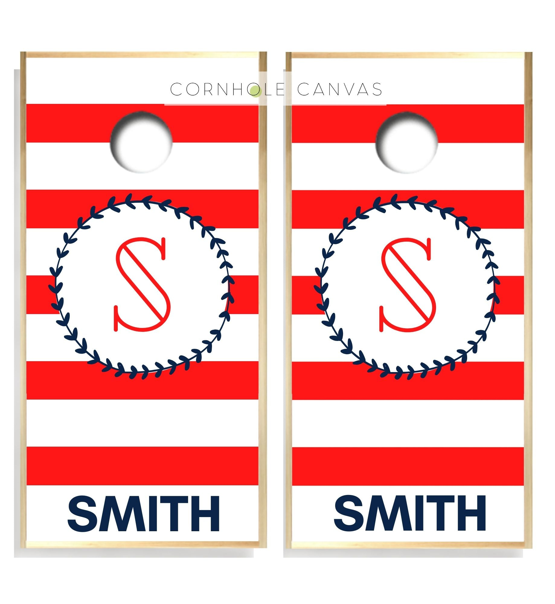 Regulation cornhole boards. Set of two. Monogrammed initials. Customizable.