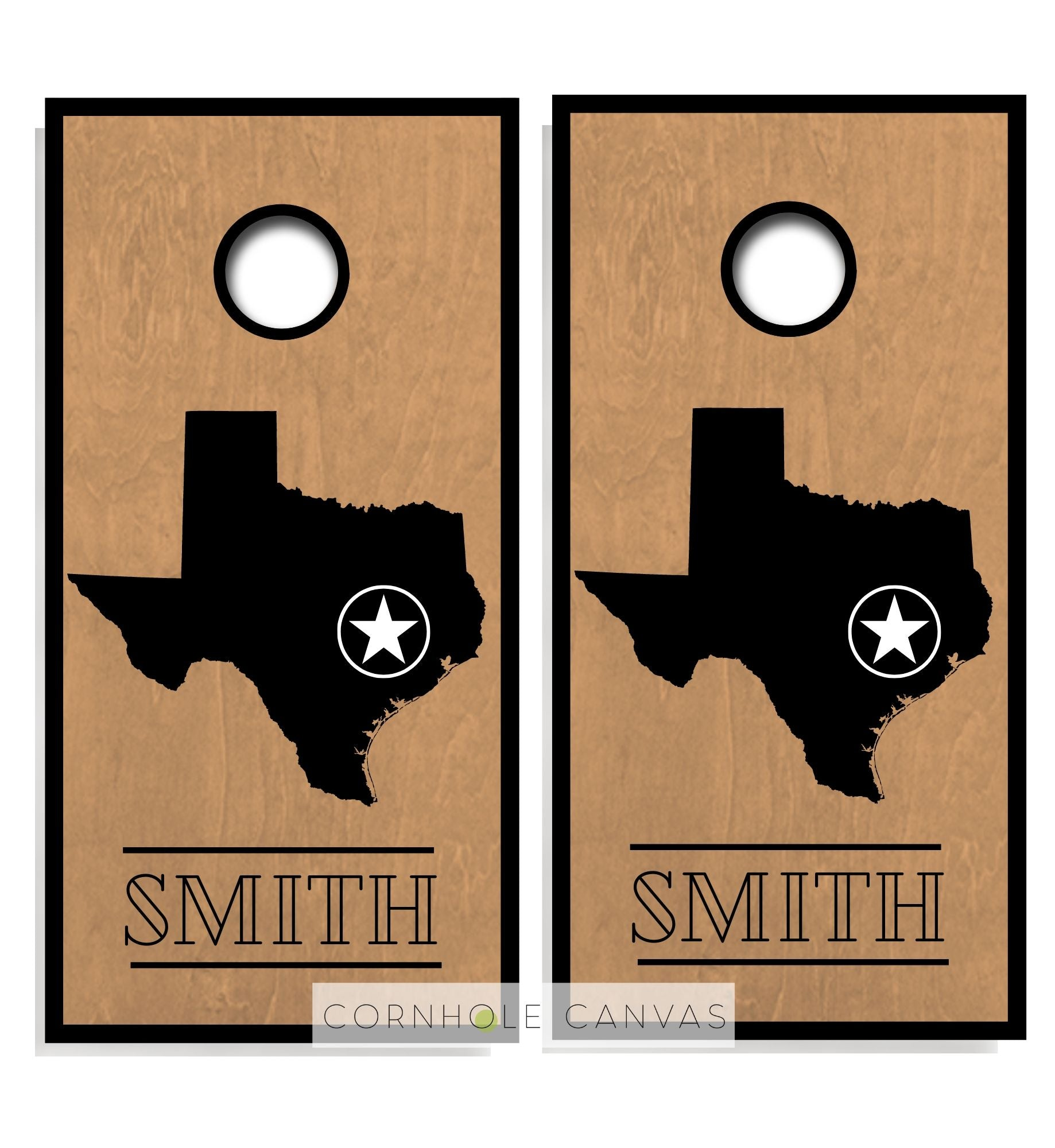 Regulation cornhole boards. Family monogram. Customizable set.