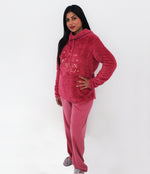 Ladies cerise Pyjama