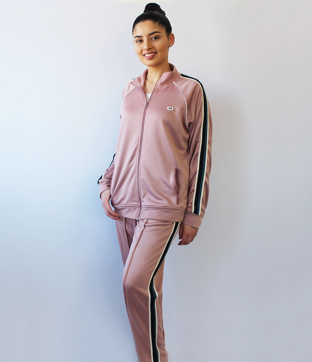 LADIES PINK TRACK TOP