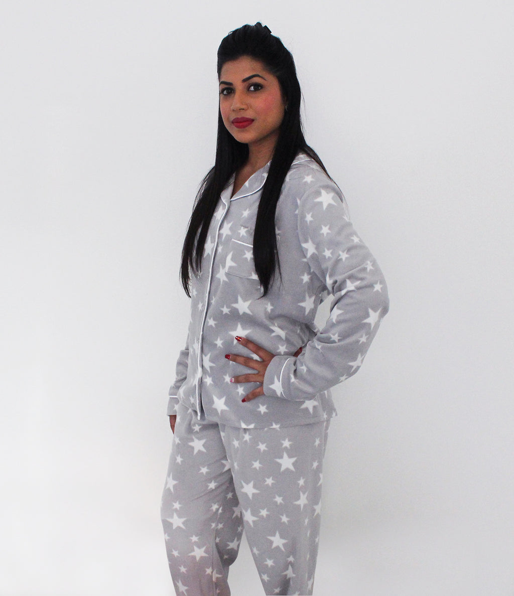 Ladies button front Pyjama