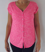 LADIES BUTTON FRONT TOP