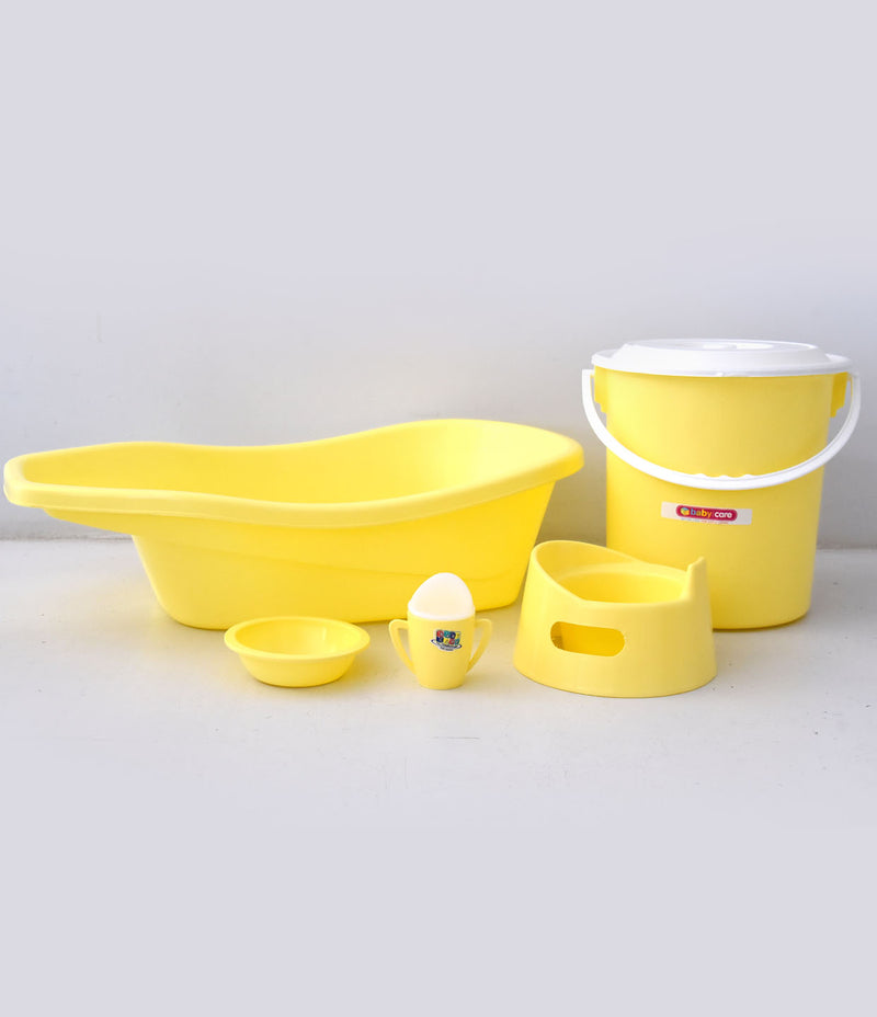 Baby Yellow Bath Set