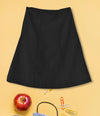 Girls Plain School Skirt Black