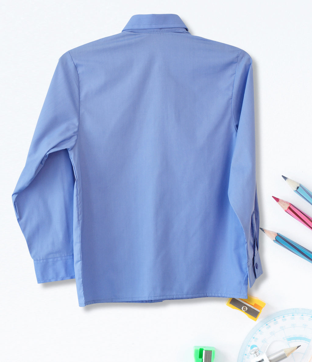 Boys Long Sleeve Shirt - Blue