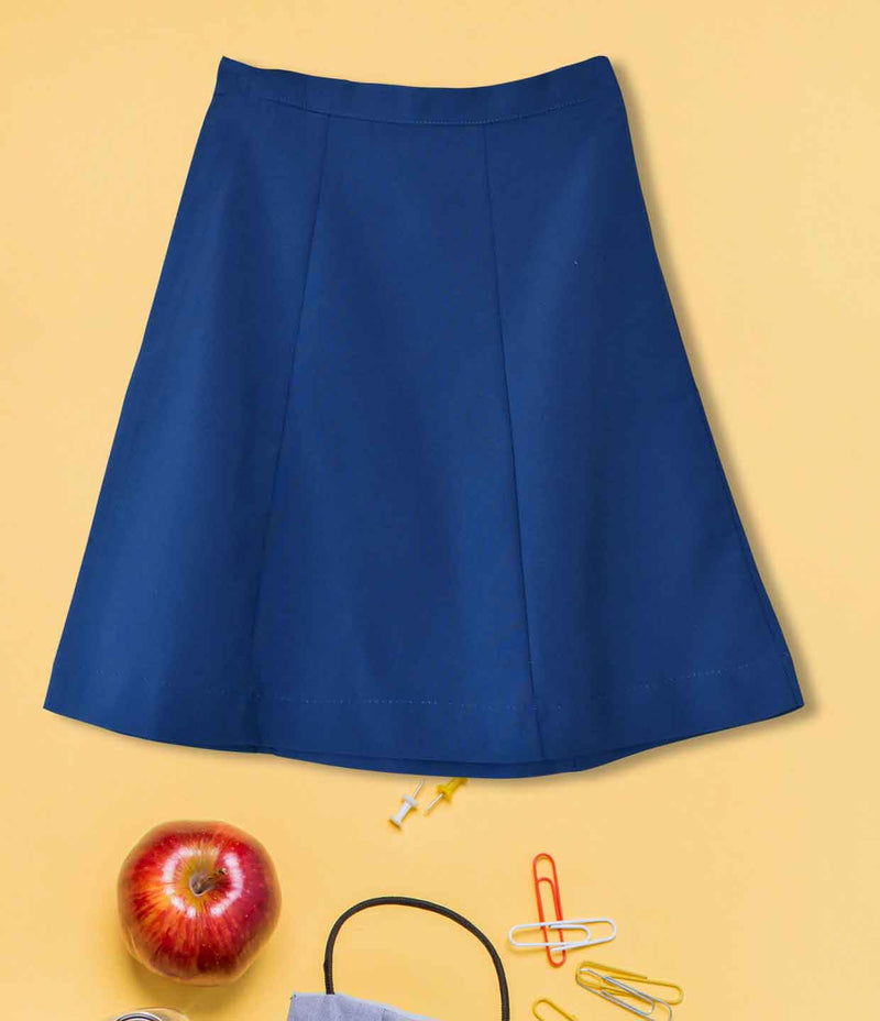 Girls Plain School Skirt - Royal 130