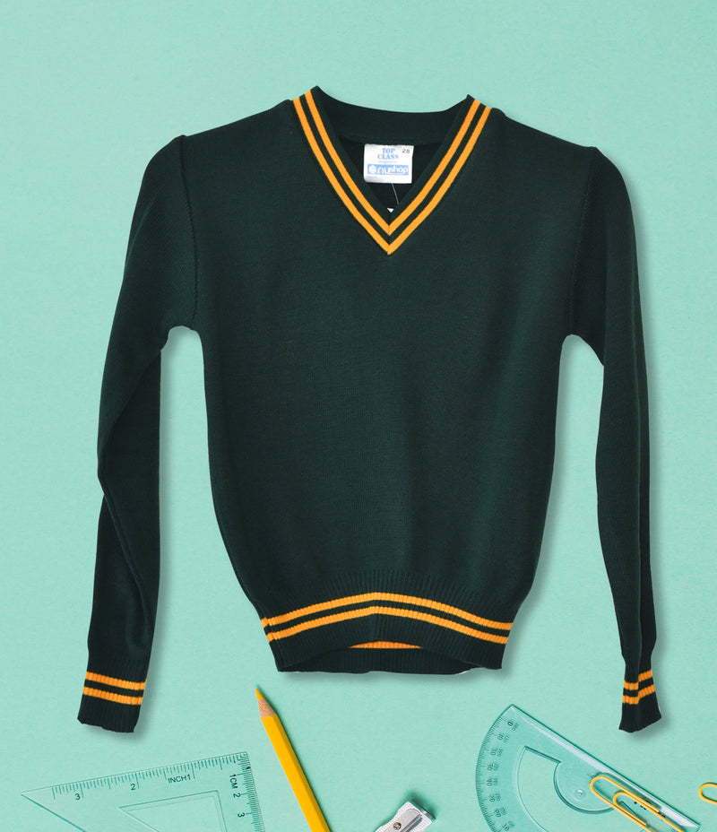 Striped School Jersey - Green/Gold