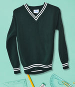 Striped School Jersey - Green/White