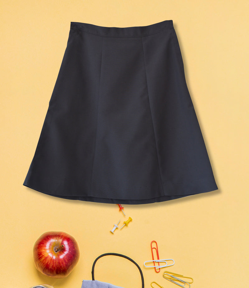 Girls Plain School Skirt - Dark Grey 171