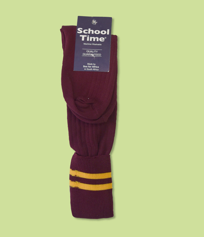 Maroon & Gold Socks