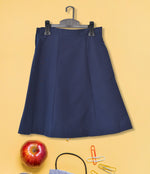 Girls Plain School Skirt - Navy