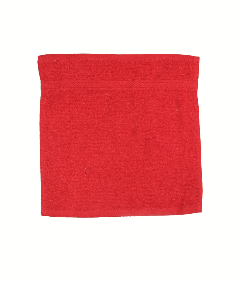 Babies 100% Cotton Red Face Towel