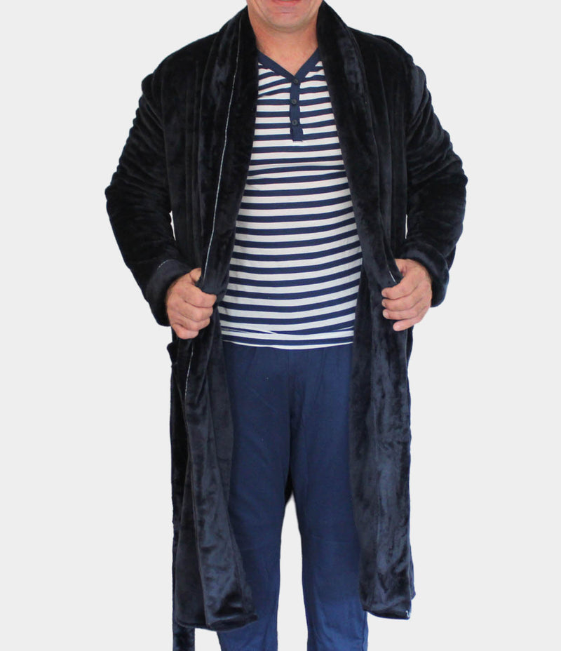 Men's flannel fleece  gown