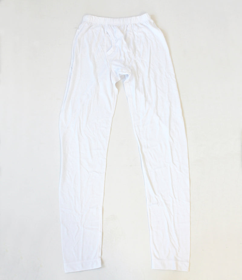 Mens white long John's