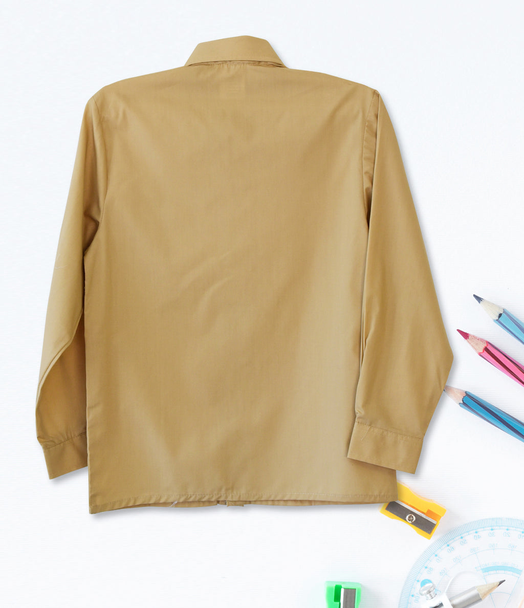 Boys Long Sleeve Shirt - Biscuit