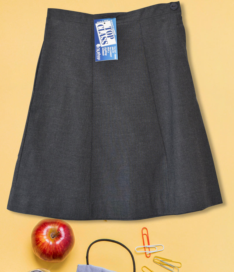 Girls Plain School Skirt - Grey kcg003