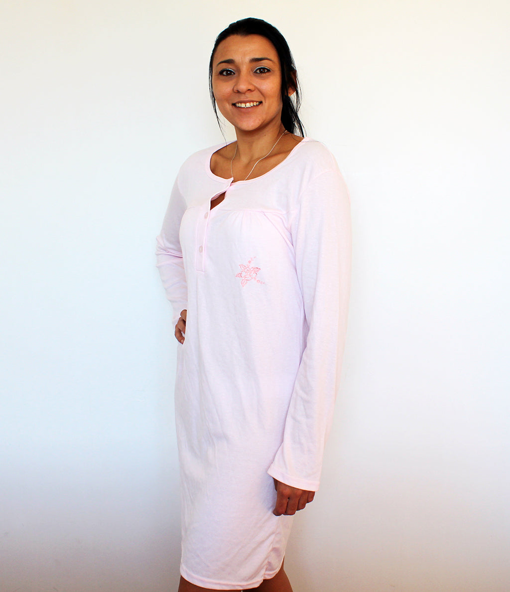 Ladies 3 Button Nightie
