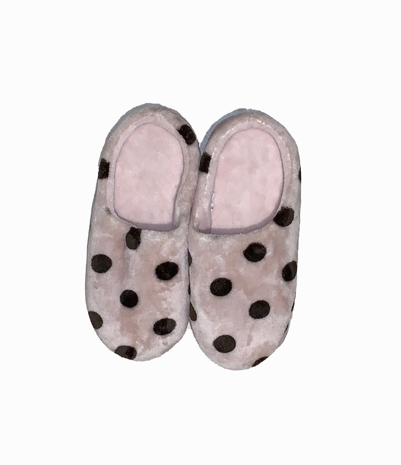 Ladies Pink Polka Dot Slippers