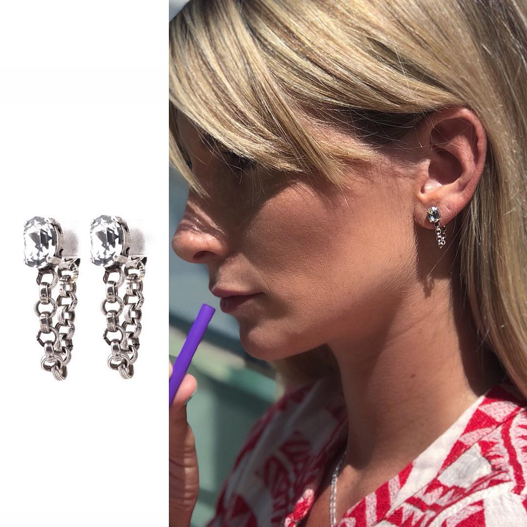 Simon Earrings in silver tone - ViaRothstein