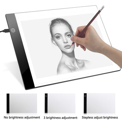 Digital Graphic Tablet A4 LED Artist Thin Art Stencil Drawing Board Light Box Tracing Writing Portable Electronic Tablet Pad
