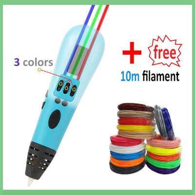 3D pen support 1.75mm ABS and PLA filament diy drawing pen with OLED display printing pen 3 D printer pen