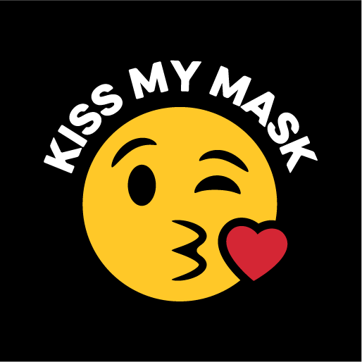 Kiss My Mask Emoji Face Mask - Cloth