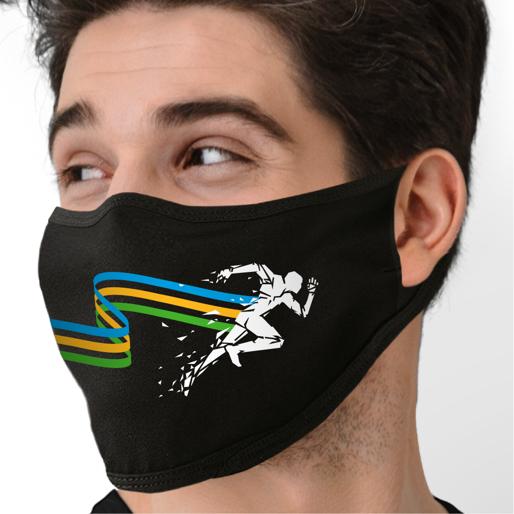 Cross the Finish Line Face Mask - Cloth