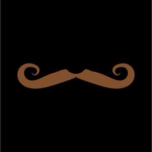 Hipster Mustache Face Mask - Cloth