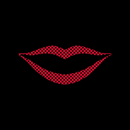 Red Lips Face Mask - Cloth