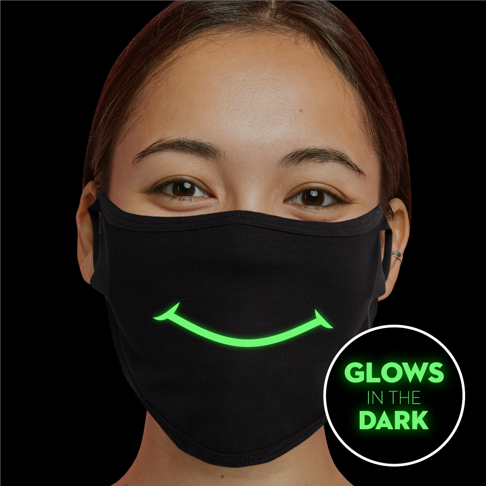 Smile - Glow In The Dark Face Mask - Cloth