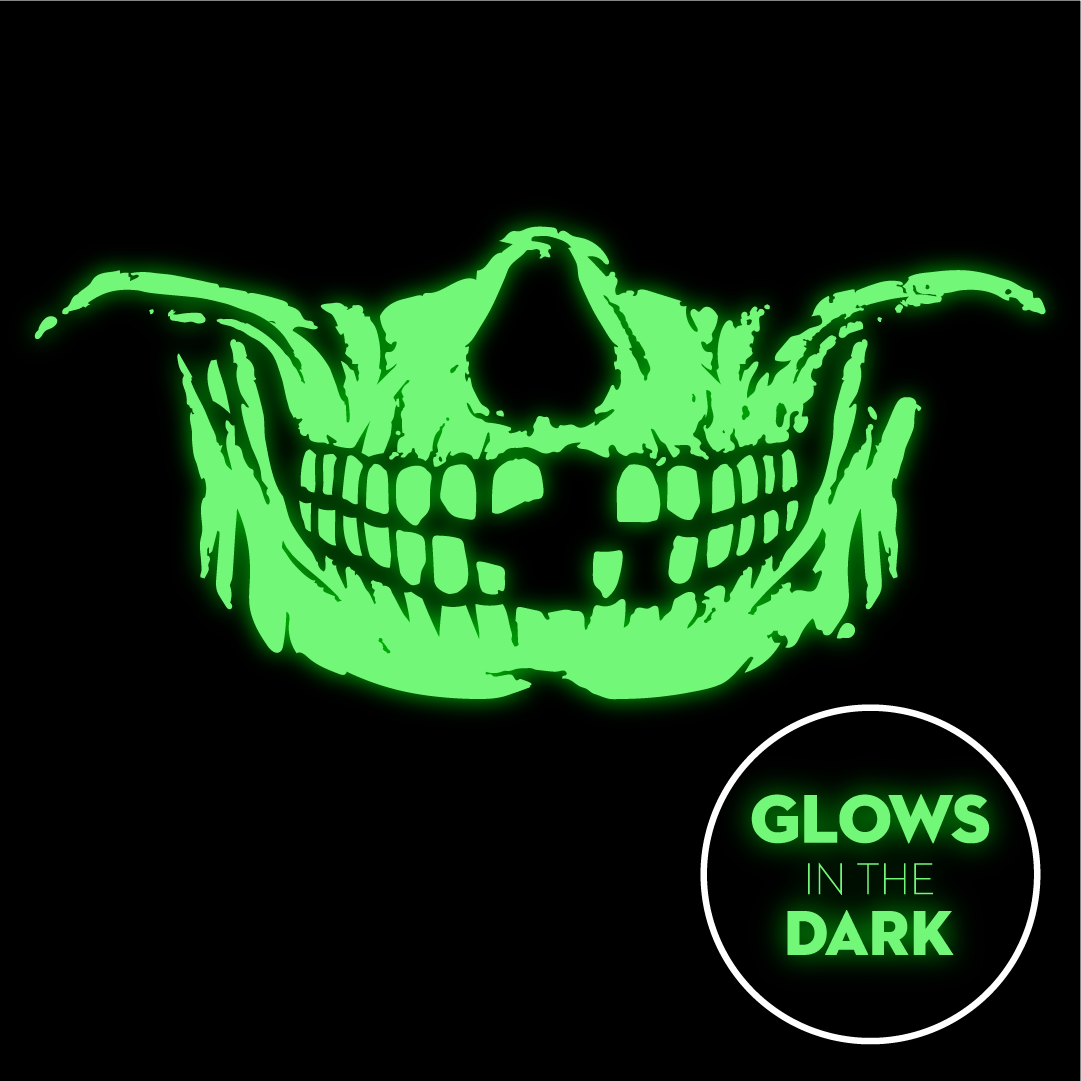 Skull Face - Glow In The Dark Face Mask - Cloth