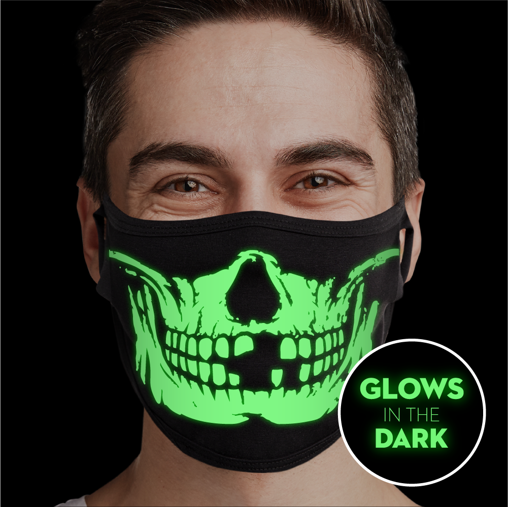 Skull Face - Glow In The Dark