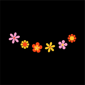 Flower Smile Face Mask - Cloth