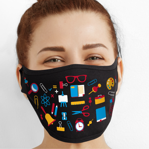 Back To School Pattern Face Mask - Cloth