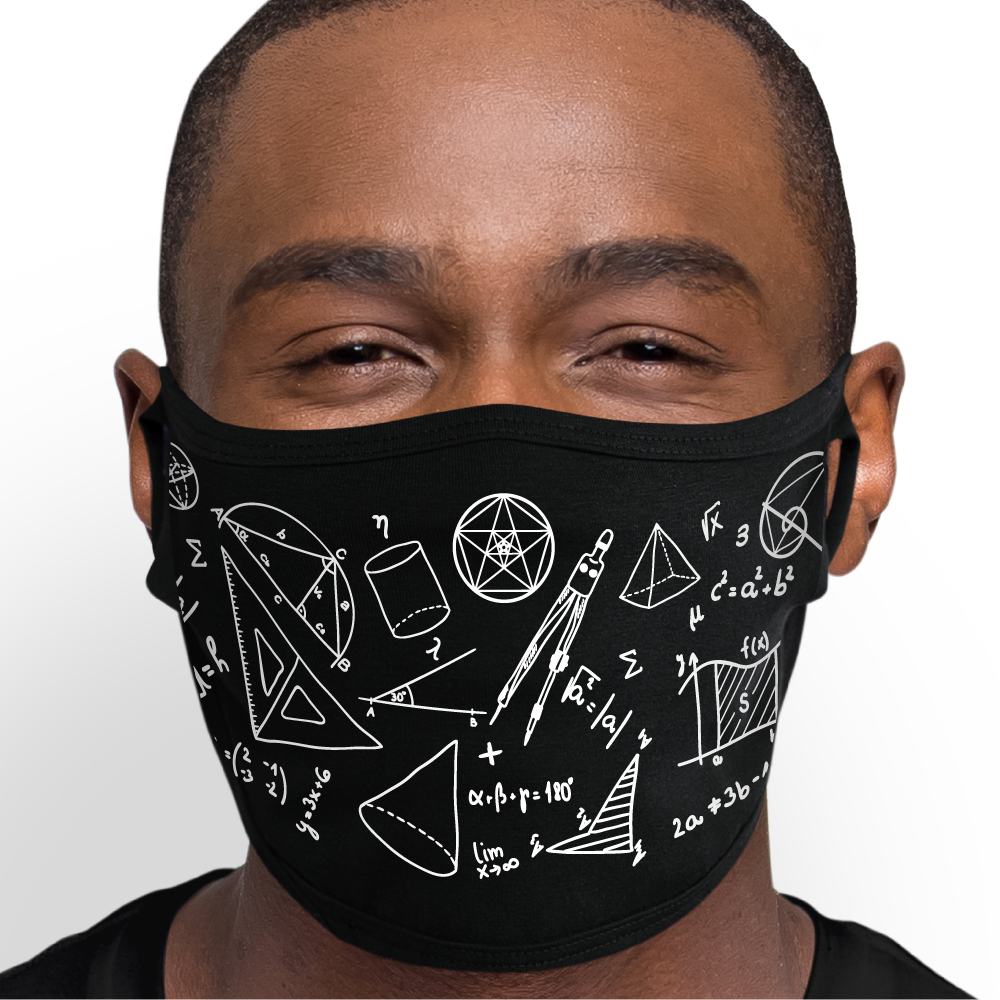 Math Equation Pattern Face Mask - Cloth