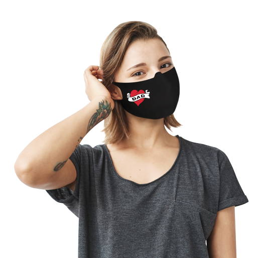 Dad Tattoo Face Mask - Cloth