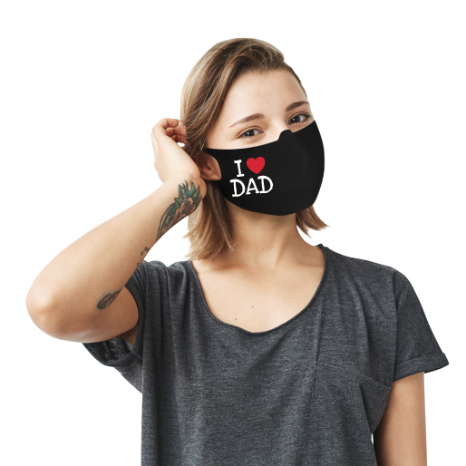 I Love Dad Face Mask - Cloth