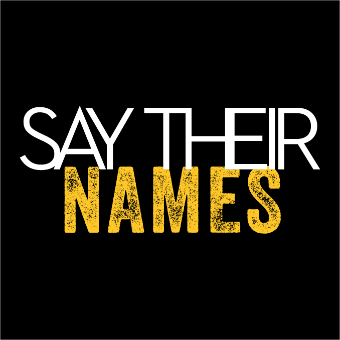 Say Their Names Face Mask - Cloth