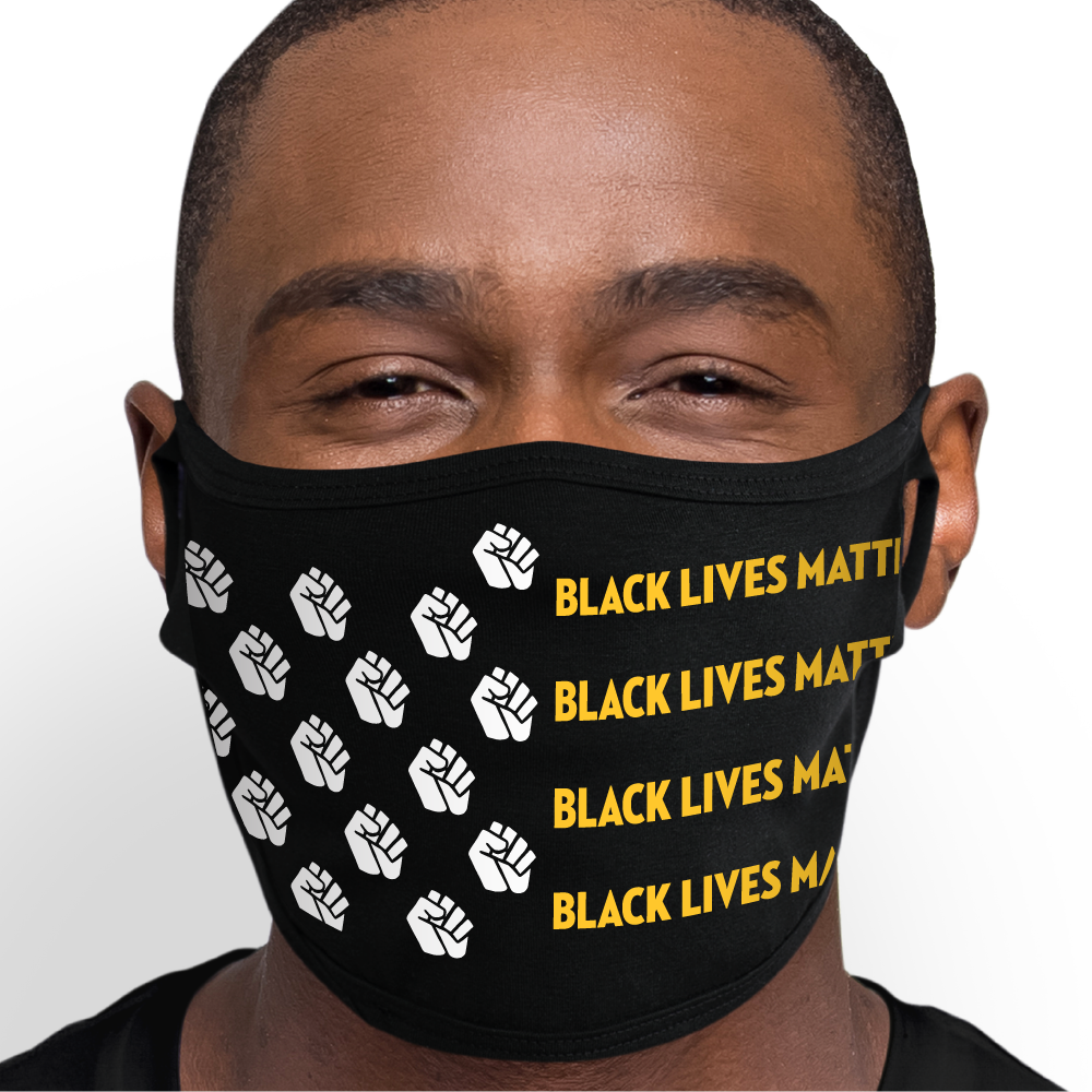 BLACK LIVES MATTER FLAG Face Mask - Cloth