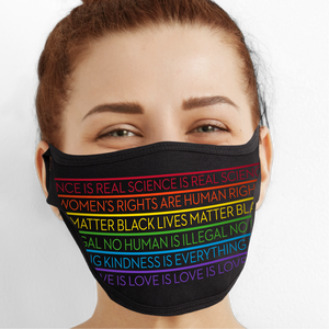Equality Rainbow Face Mask - Cloth