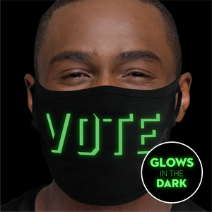 VOTE - Glow In the Dark Face Mask - Cloth