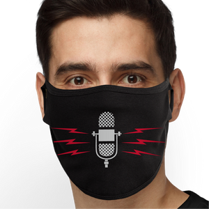 Retro Microphone Face Mask - Cloth